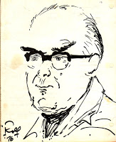 Sketch of Fraser MacPherson by Rolf Harris, 1976.