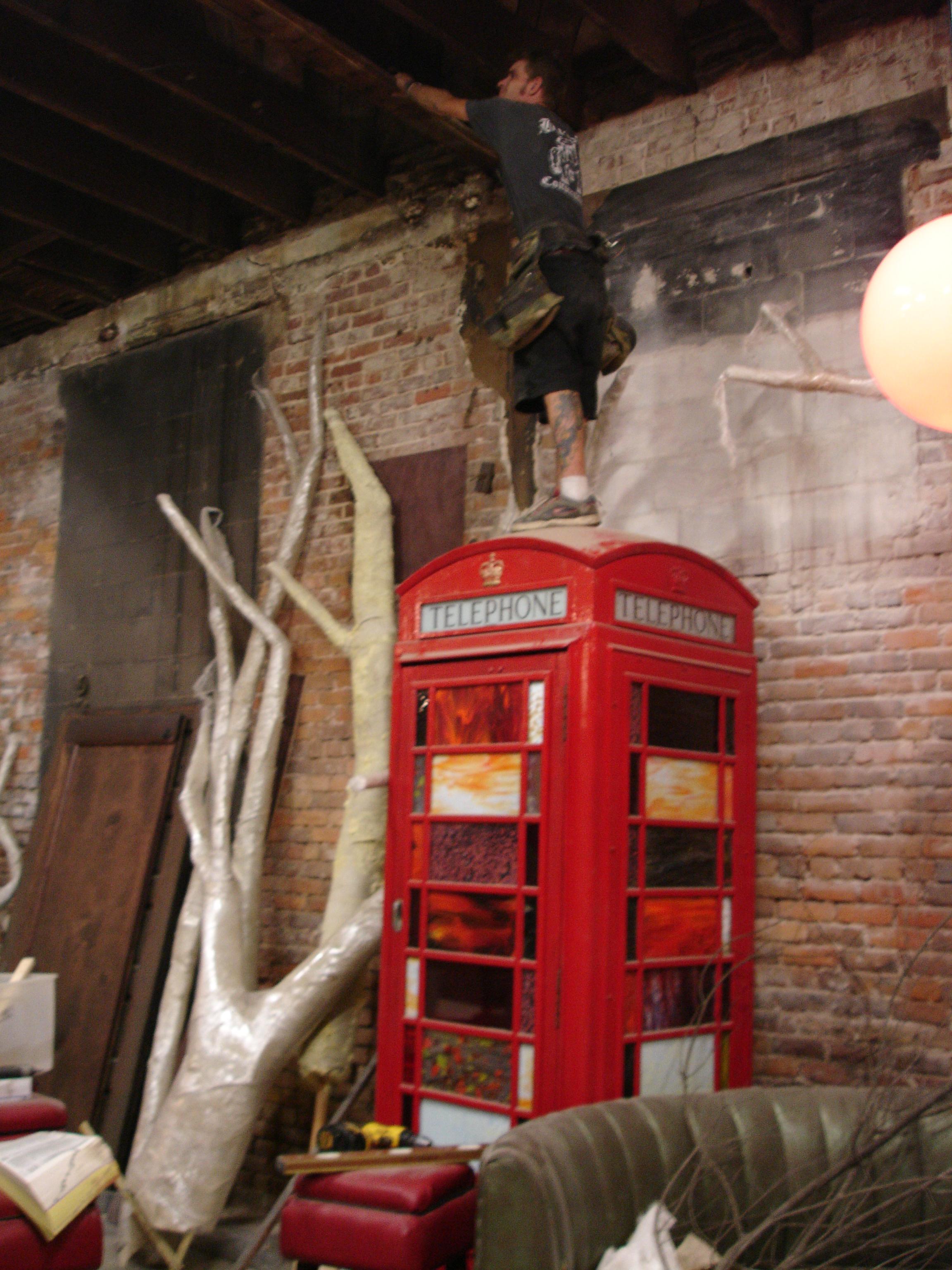 cletus on phonebooth.JPG