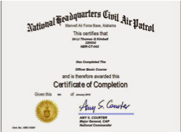 Civil Air Patrol Certificates