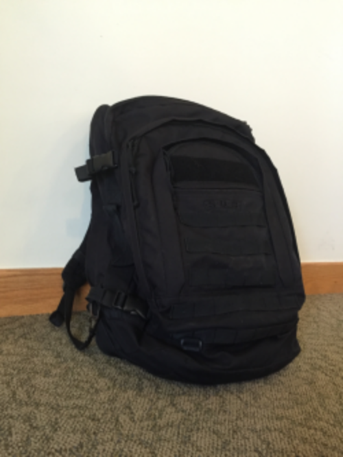 Here is an example of an acceptable backpack for both Air Force BMT & Tech School. Link:  http://amzn.to/1NqzlCR