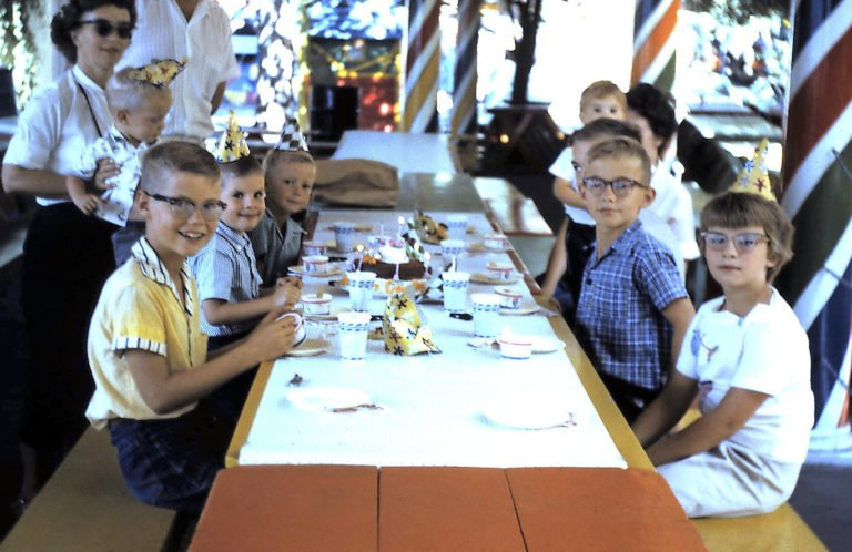 """My cousin, Paul, sister Deb and I had July birthdays, so my family drove to Denver, Colorado, and celebrated at Elitch Gardens. I was 6 here, in 1962,"" says William Snesrud.   COURTESY WILLIAM SNESRUD/REMINISCE"