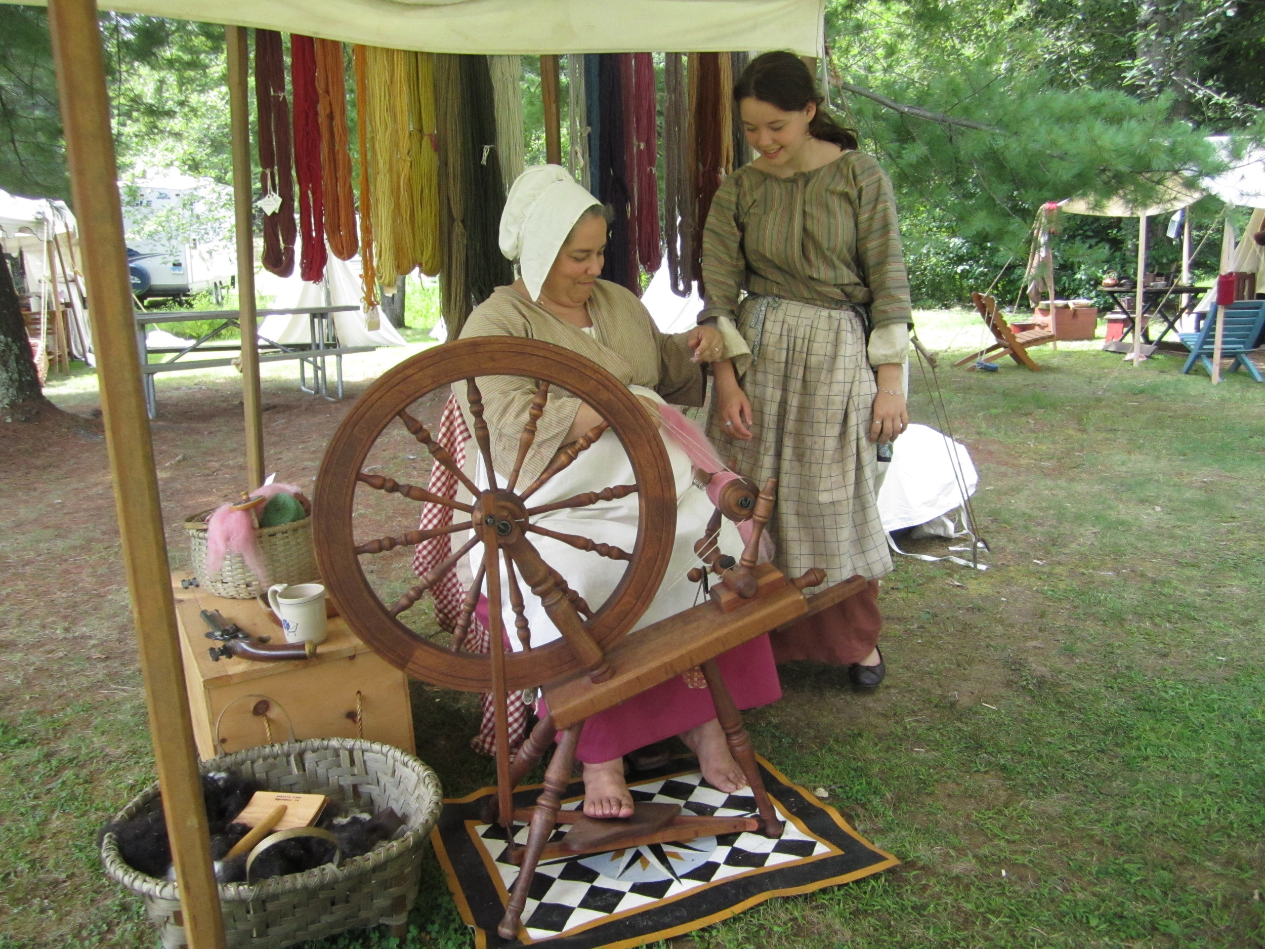 Historic Spinning Demonstrations