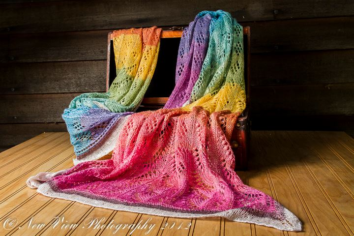 Lily of the Valley Rainbow Shawl