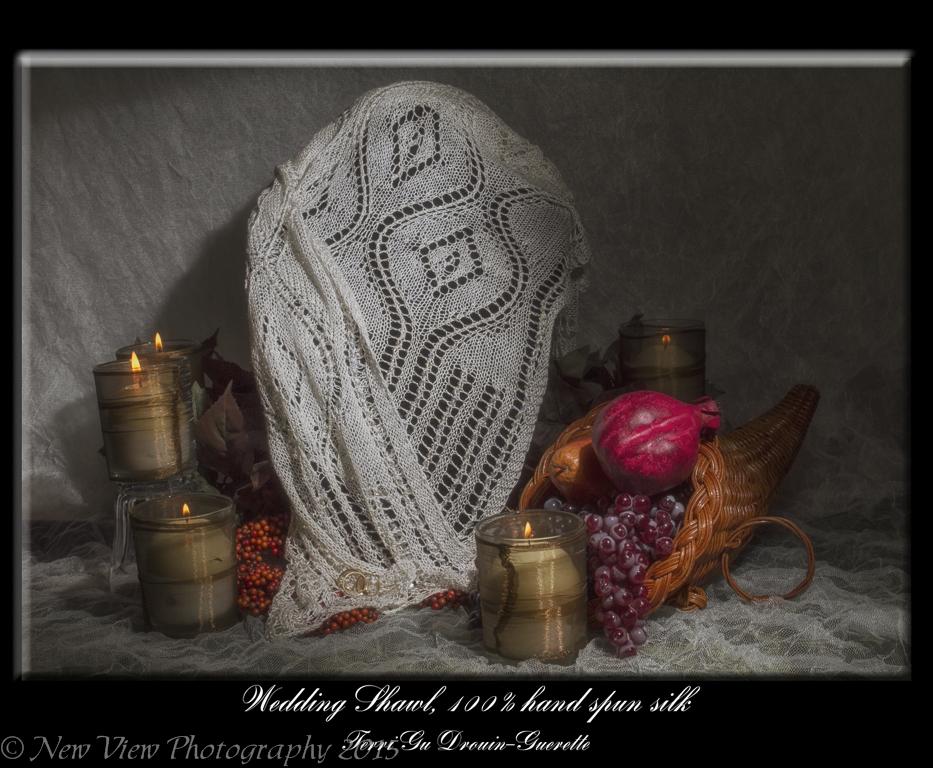 Silk Wedding Shawl