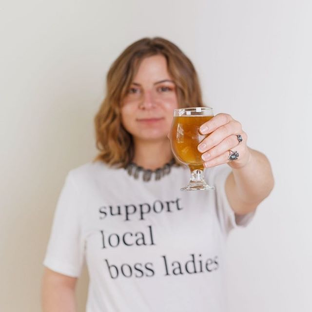 #bossbabe beer being released tonight @nutsnboltsbeer!!! My #supportlocalbossladies tee inspired brewmaster/owner, Deedra @nutsnboltsbeer to launch #bossbabe beer! 10% of the sales of this beer is being donated to girls in S.T.E.M. My #bosslady tee is also available at her tap room @pepperellmillcampus building 10.