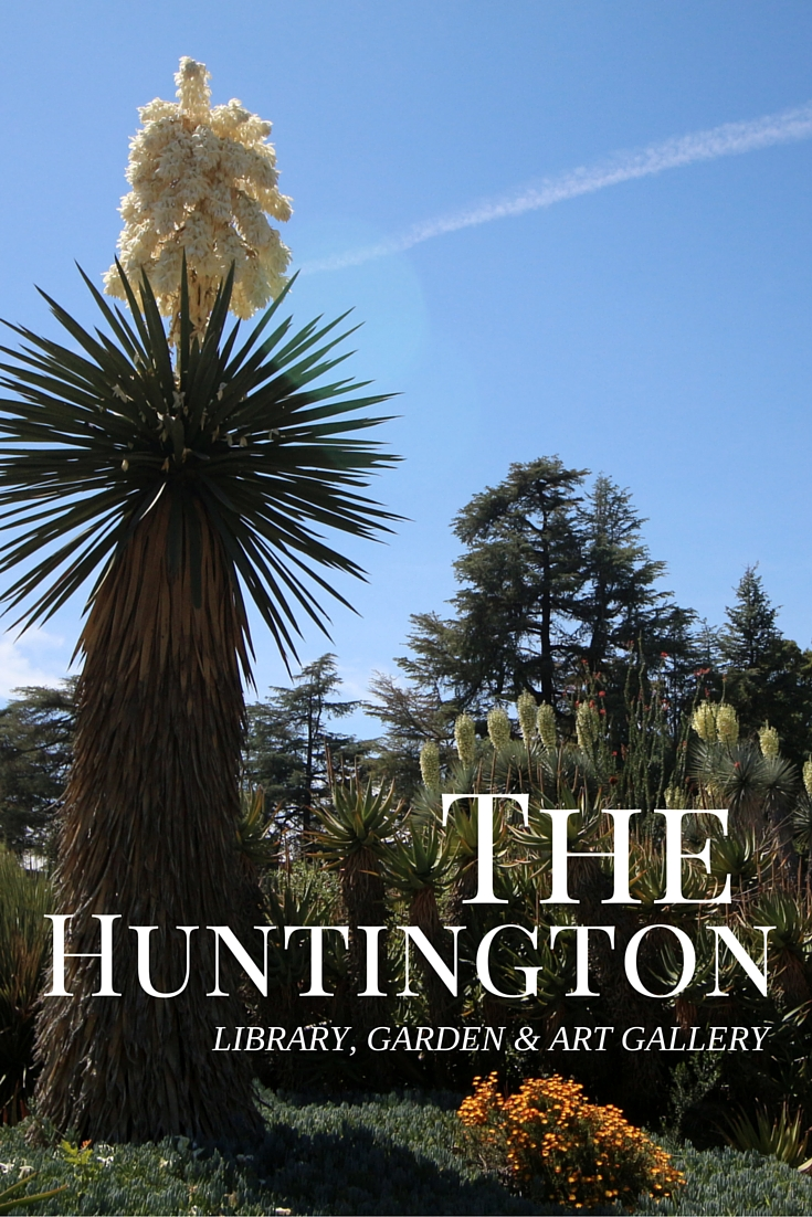 The Huntington is a great place in Southern California to spend a relaxing day strolling through gardens, library and art galleries.