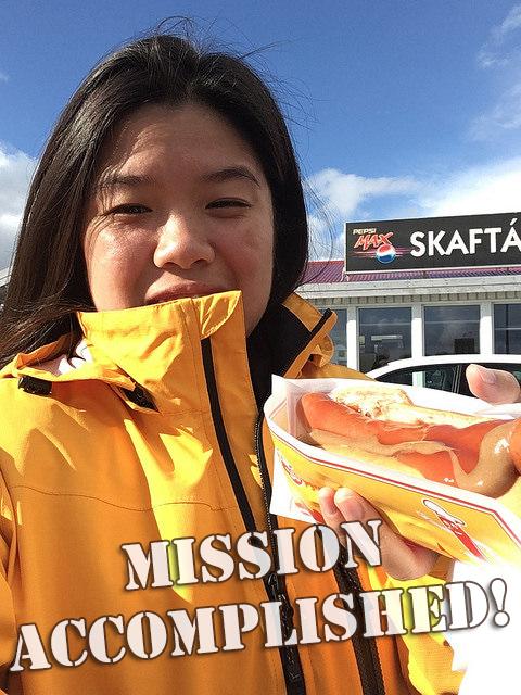 Mission accomplished! Icelandic hot dog