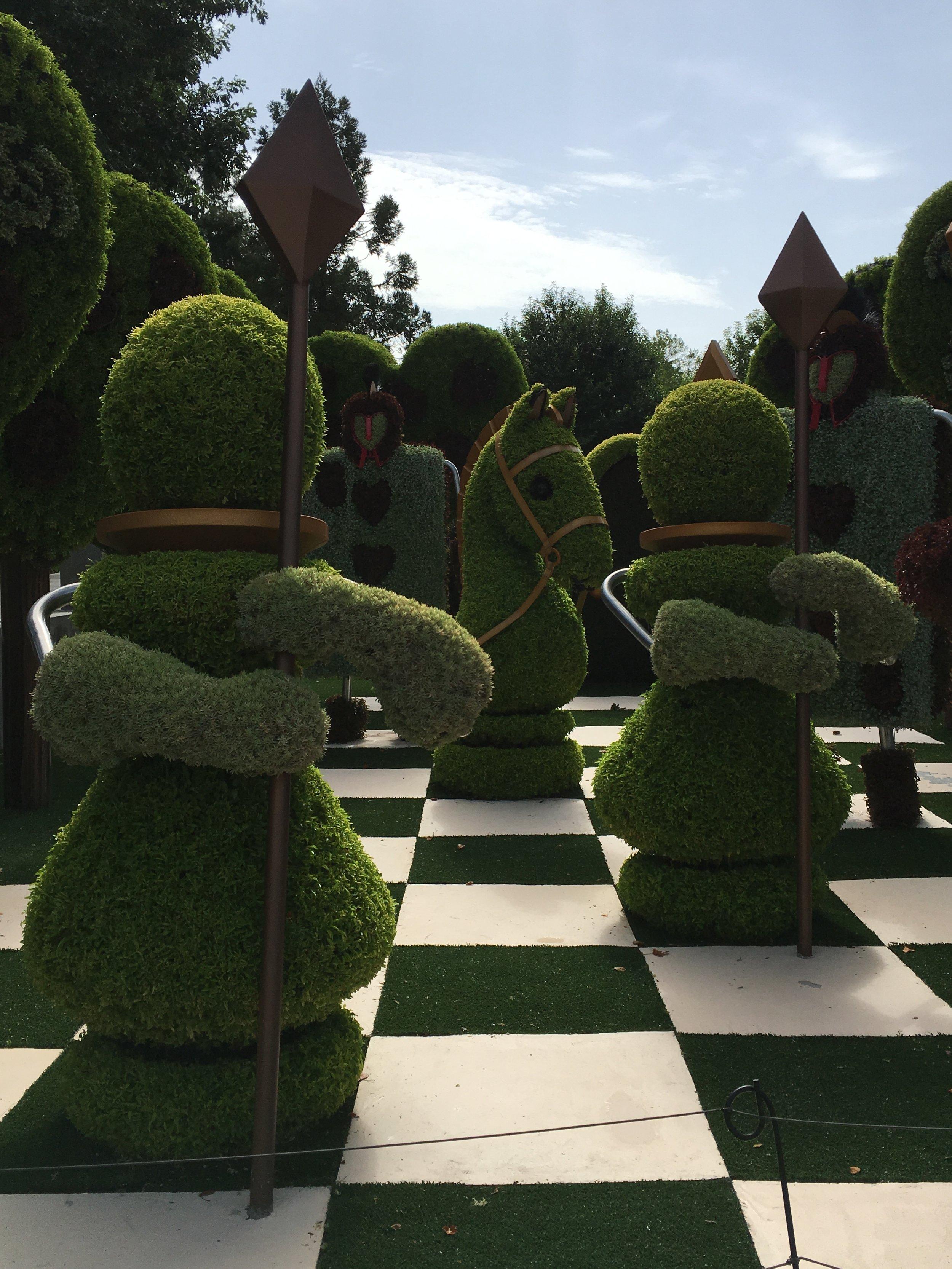ATL Botanical Garden - Wonderland Chess.JPG