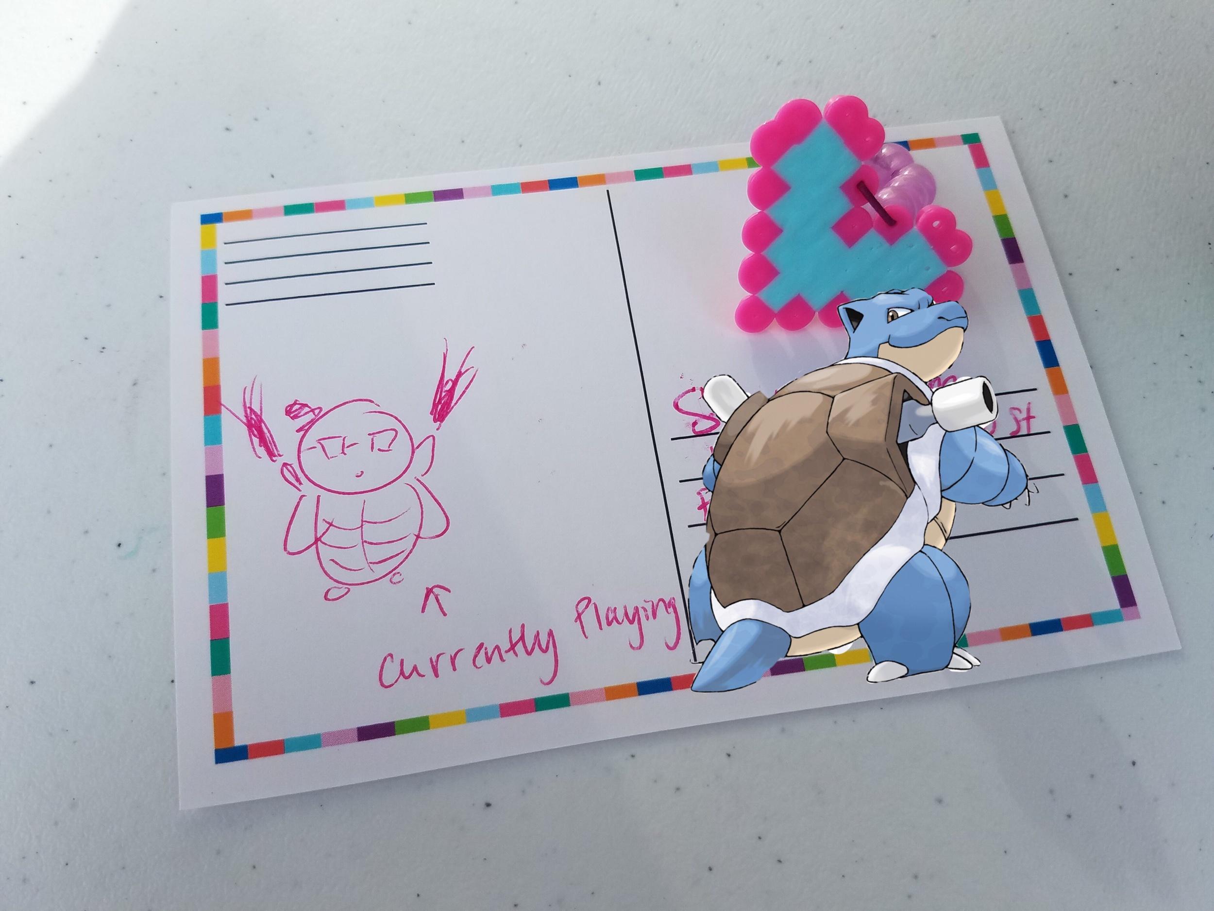 Blastoise postcard