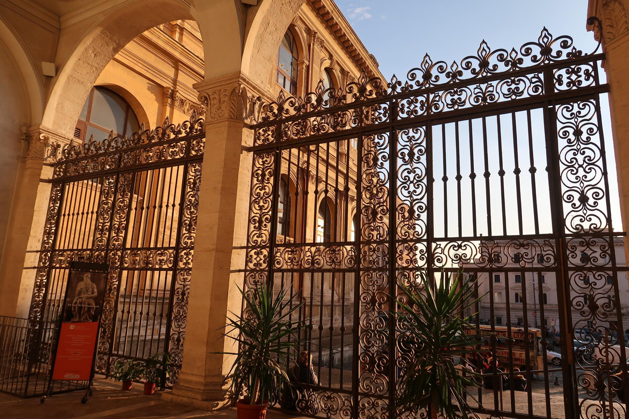 Sunset on gate.JPG