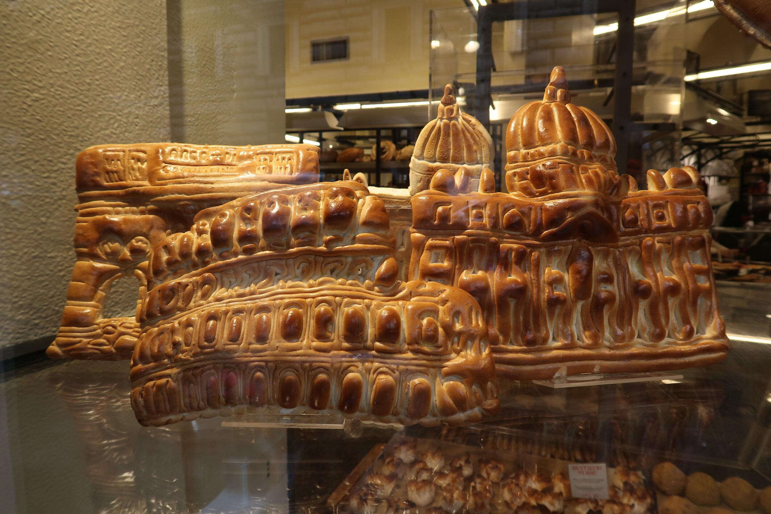 Bread shaped like Coliseum.JPG