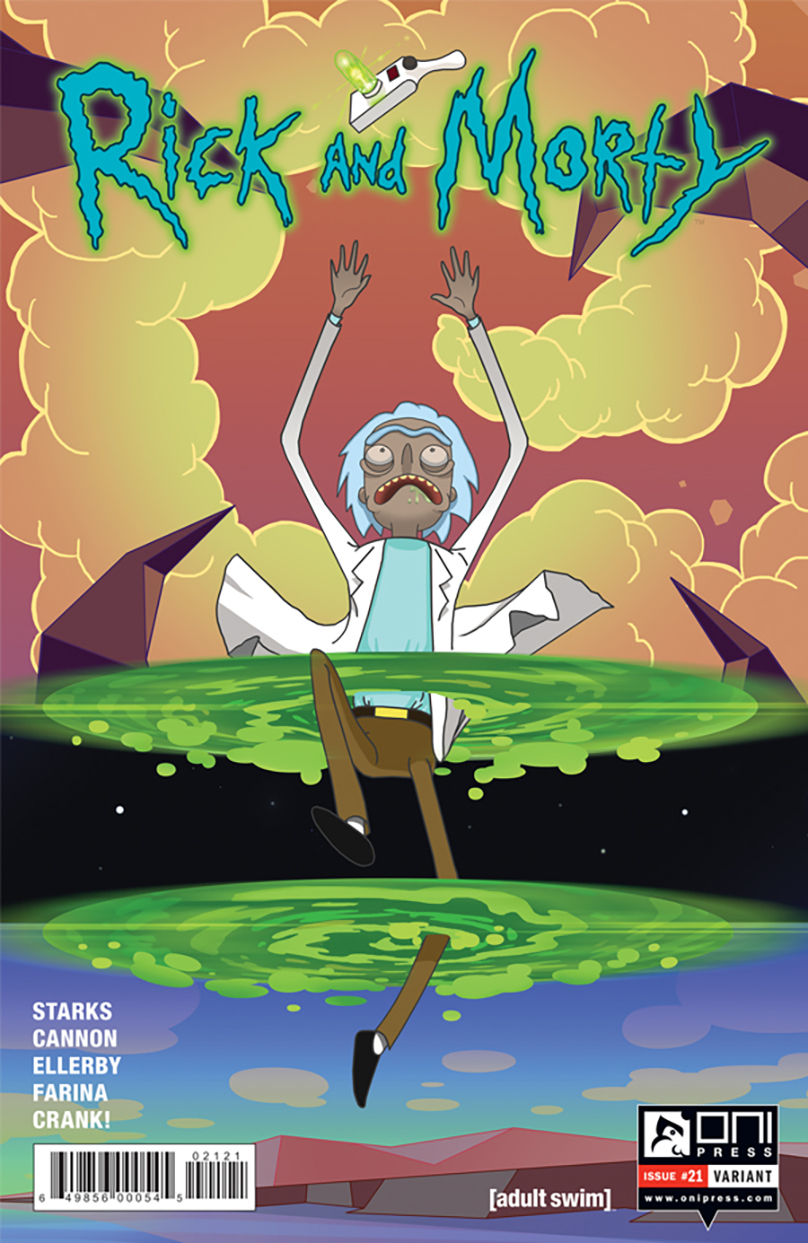 Rick and Morty #21 variant cover.