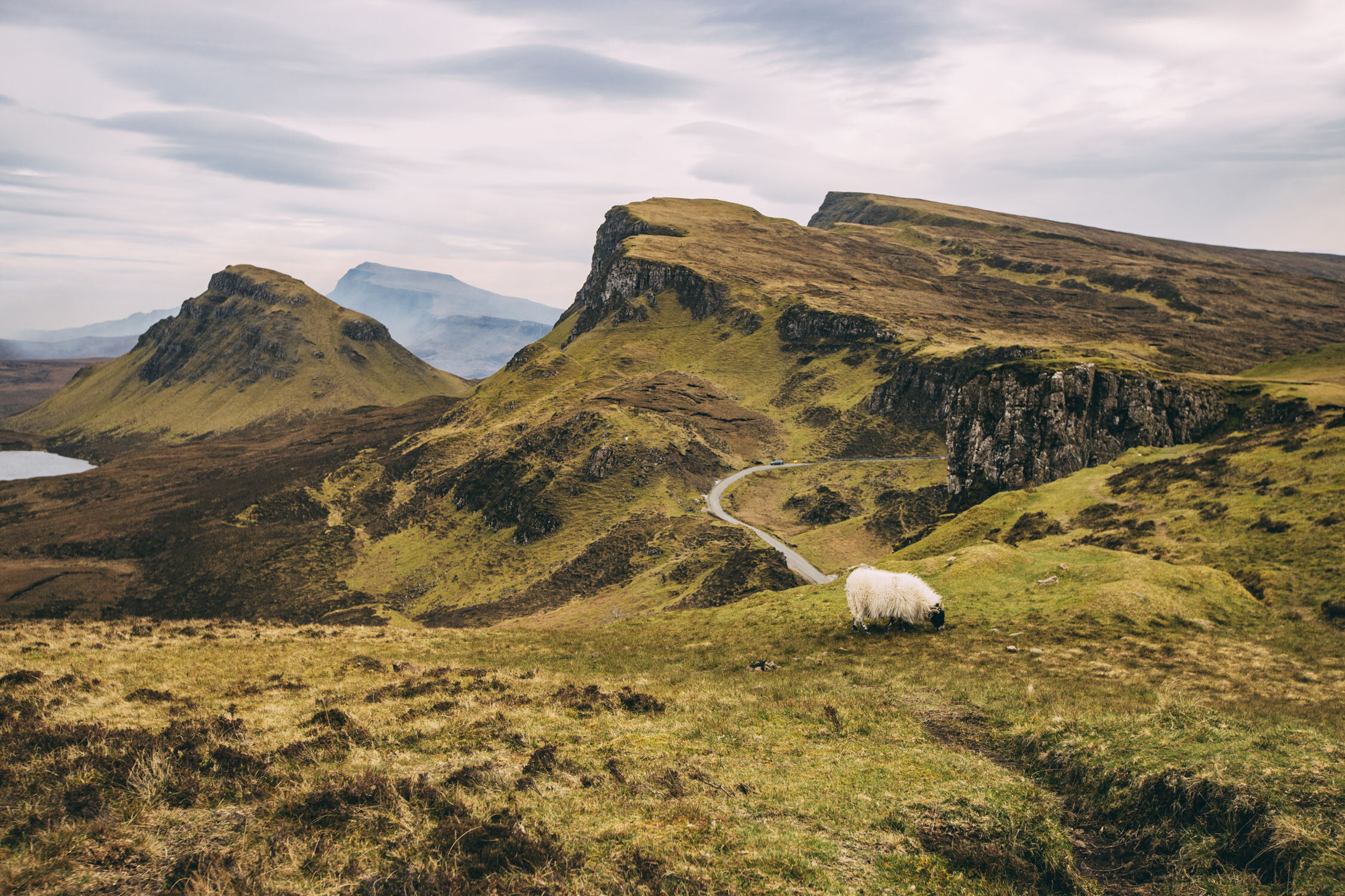 The Quiraing. Isle of Skye, Scotland. April 2019.