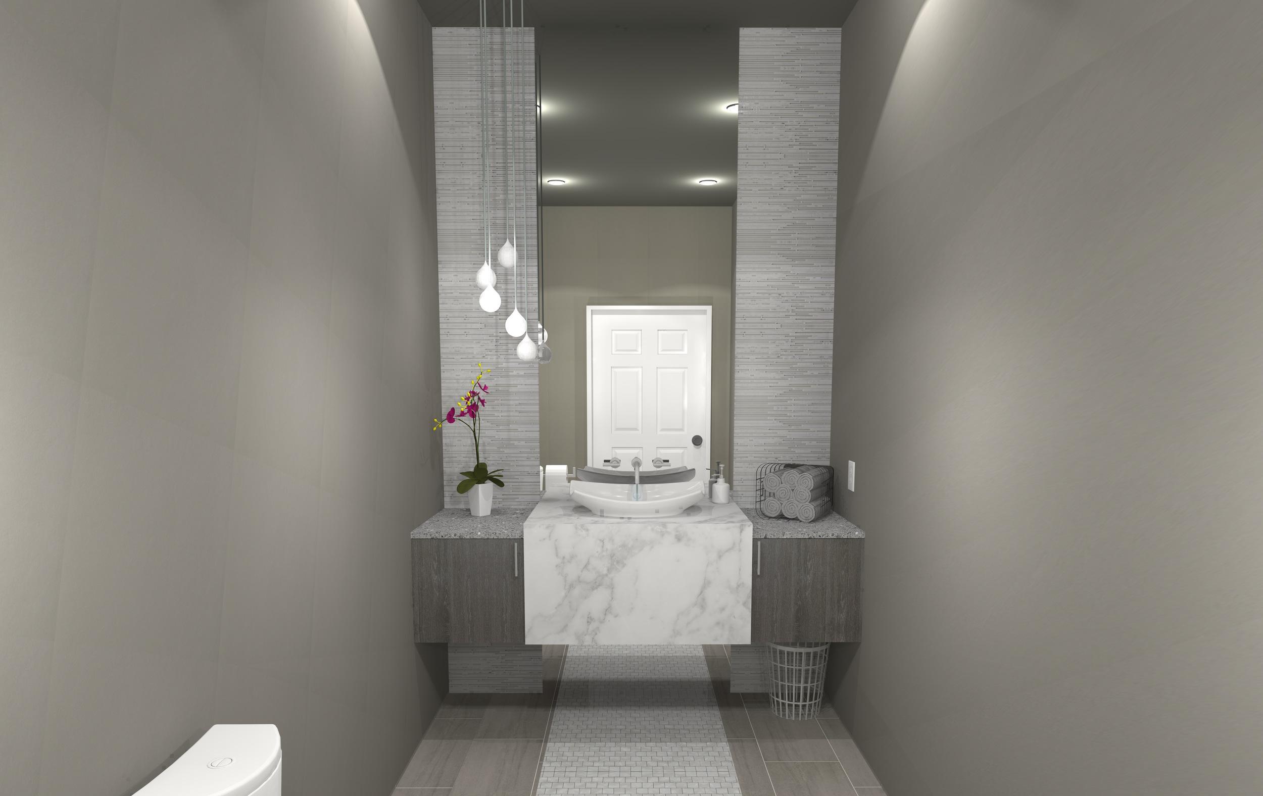 Design Outside the Lines-Contemporary Grey Bathroom