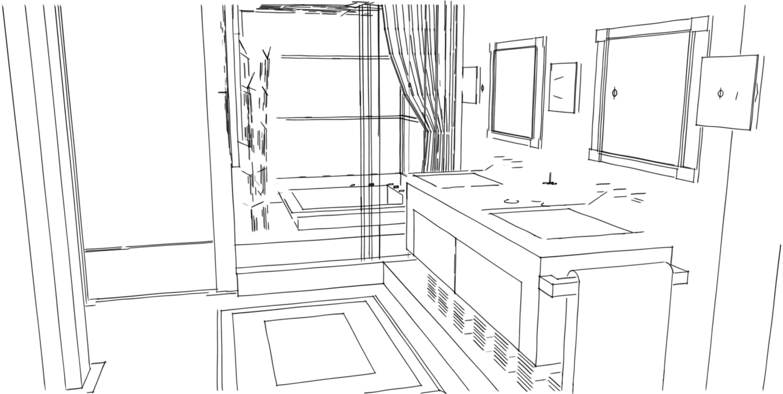 Arizona Biltmore Sketchy Line Master Bath.jpg