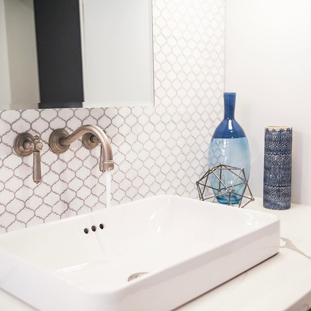 We loved having creative freedom on this project! The client had purchased the faucets and had us design the rest!