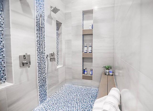 Master bathroom shower we just finished in a custom home in Verrado!