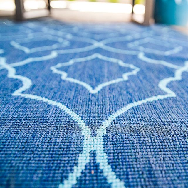 We loved how this outdoor rug had a pattern and a soft texture! It really added depth to this client's patio!