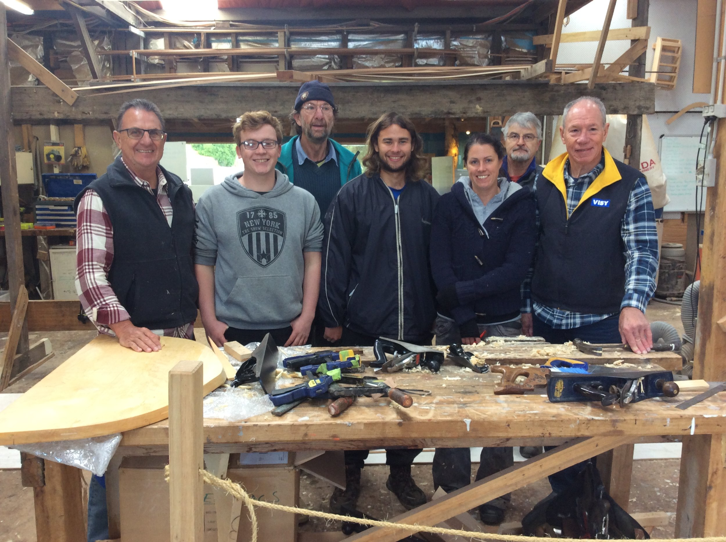 Students at the beginning of their 7 week course with instructors Pete Laidlaw and Mike Johnson