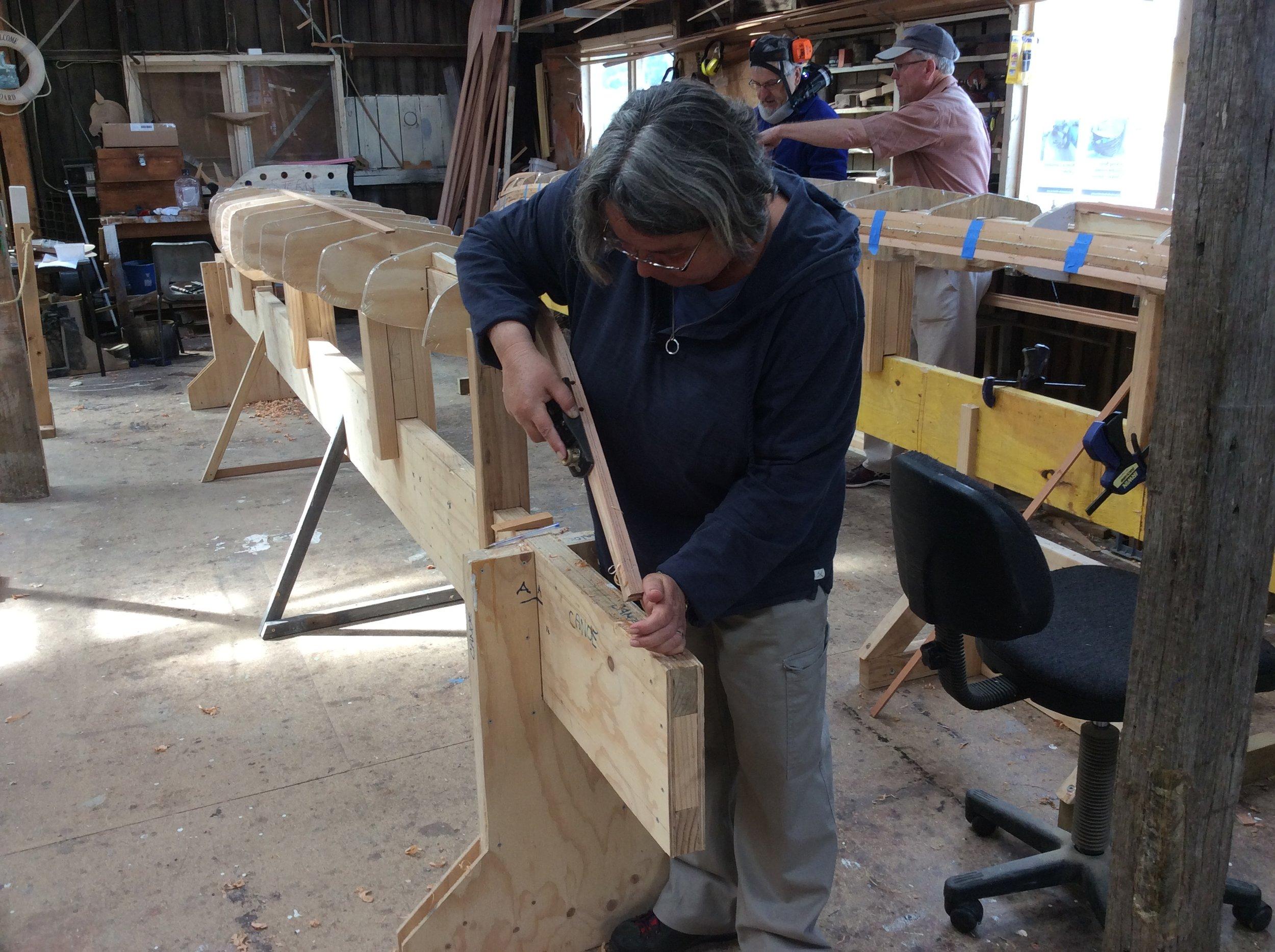 Lara shaping the stem
