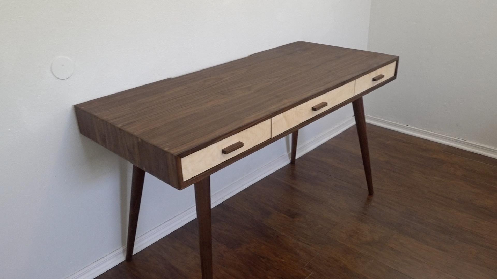 Diy Mid Century Modern Desk Modern Builds