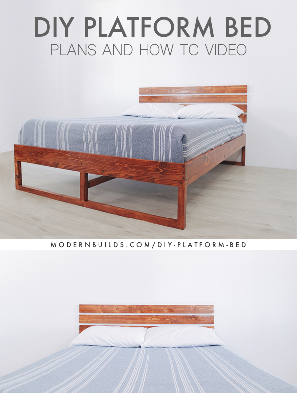 DIY Plywood Bed Modern Builds