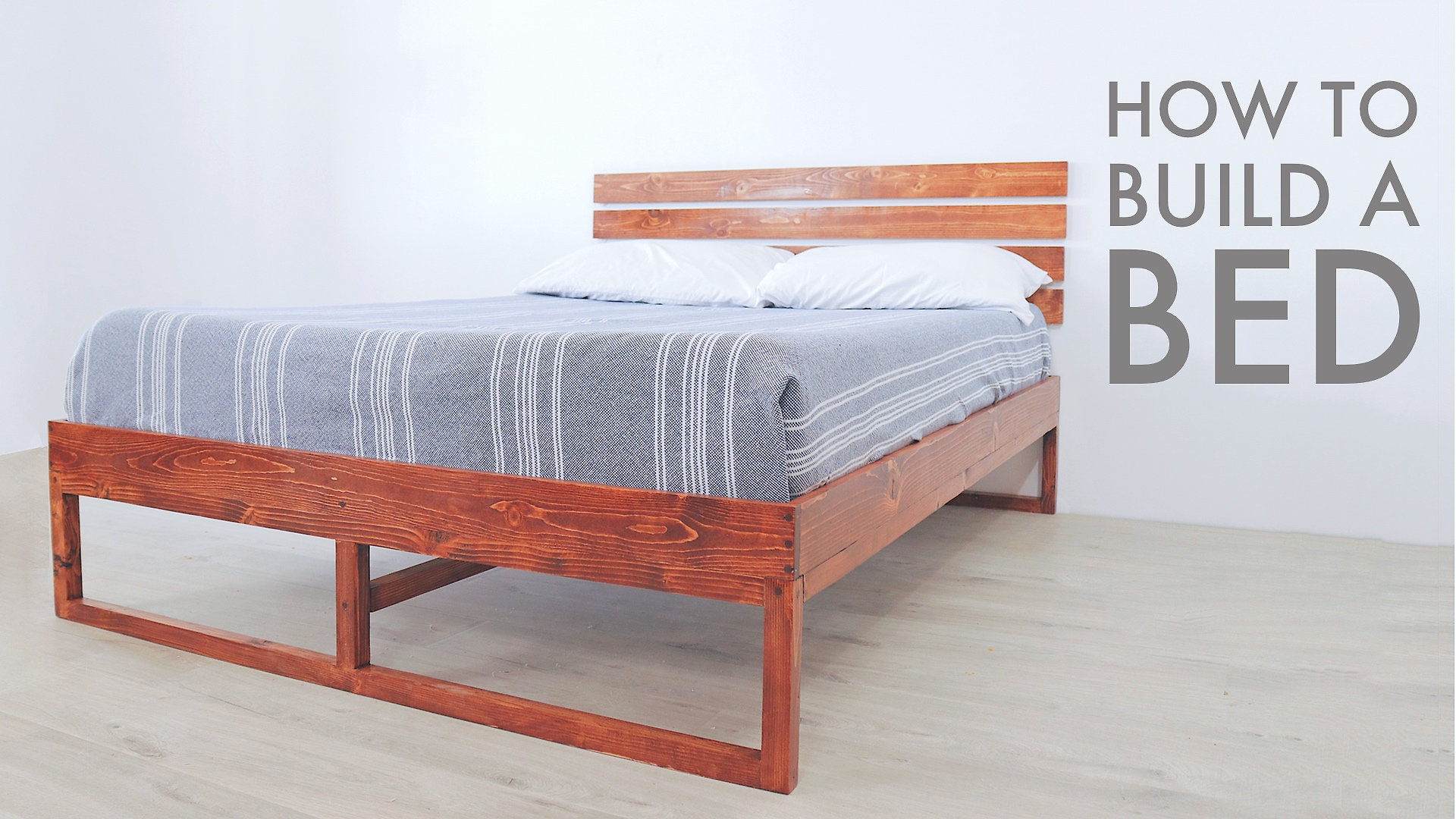 A DIY Full Sized Bed built with Limited Tools by Mike Montgomery | Modern Builds
