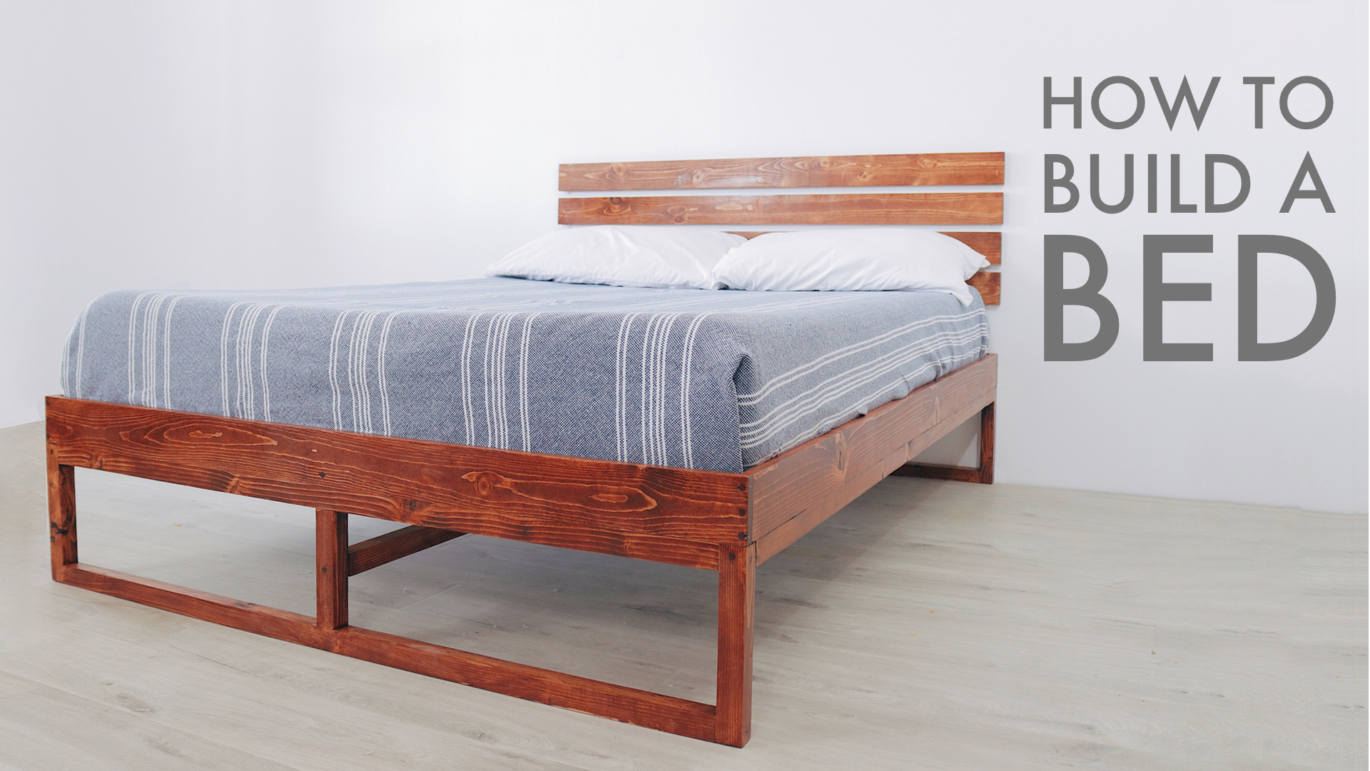 How to build a Full Sized Platform Bed with Limited Tools by: Mike Montgomery | Modern Builds