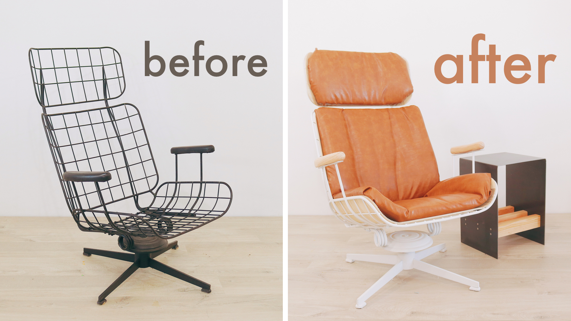 A fresh take on a vintage Eames-style outdoor lounge chair. By: Mike Montgomery | Modern Builds