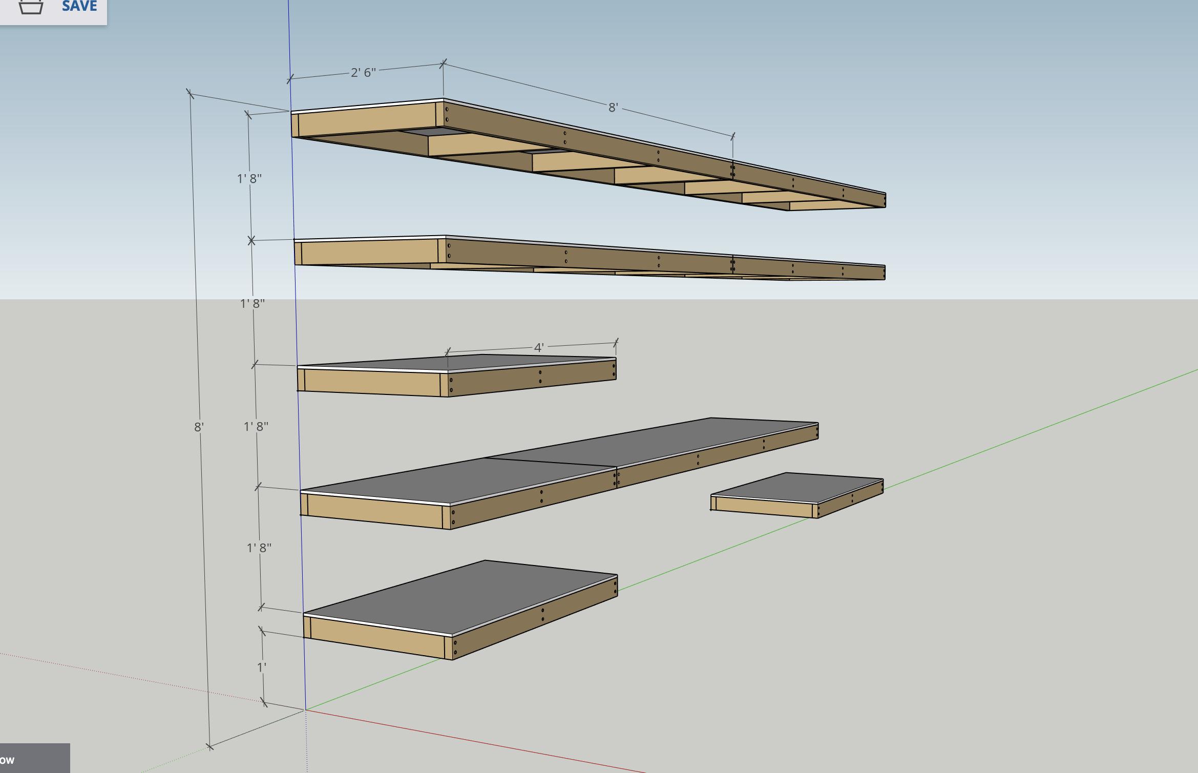 DIY Garage Shelves Plan   Modern Builds