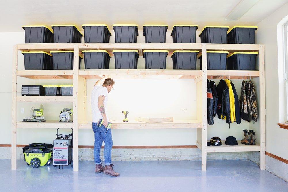 Diy Garage Shelves Modern Builds, Garage Workbench And Storage
