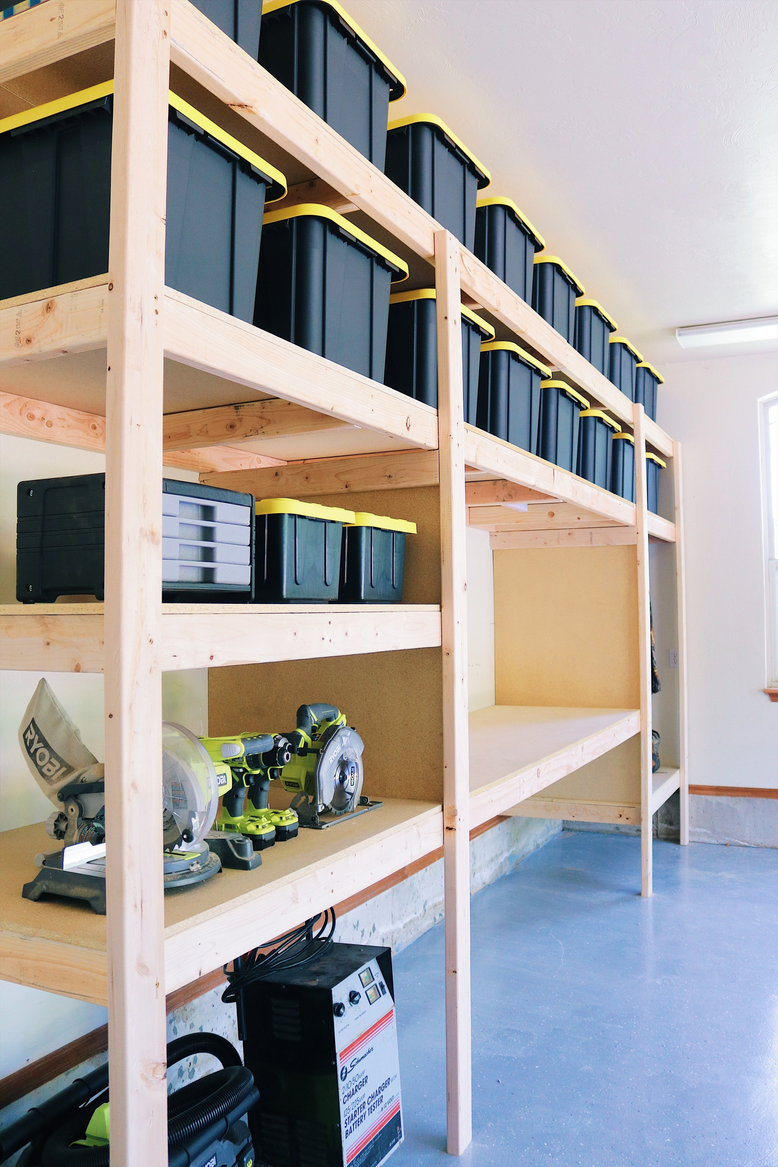DIY Garage Shelves — Modern Builds on diy wood lamps, diy wood kitchen projects, diy wood trays, diy chairs plans, wood shed construction plans, diy wood containers, diy fire pit plans, diy wine cellar plans, diy workbench plans, diy chicken house plans, diy sheds plans, diy beverage cooler plans, wood storage lean to plans, diy wood box designs, diy shelving plans, diy wood garages,