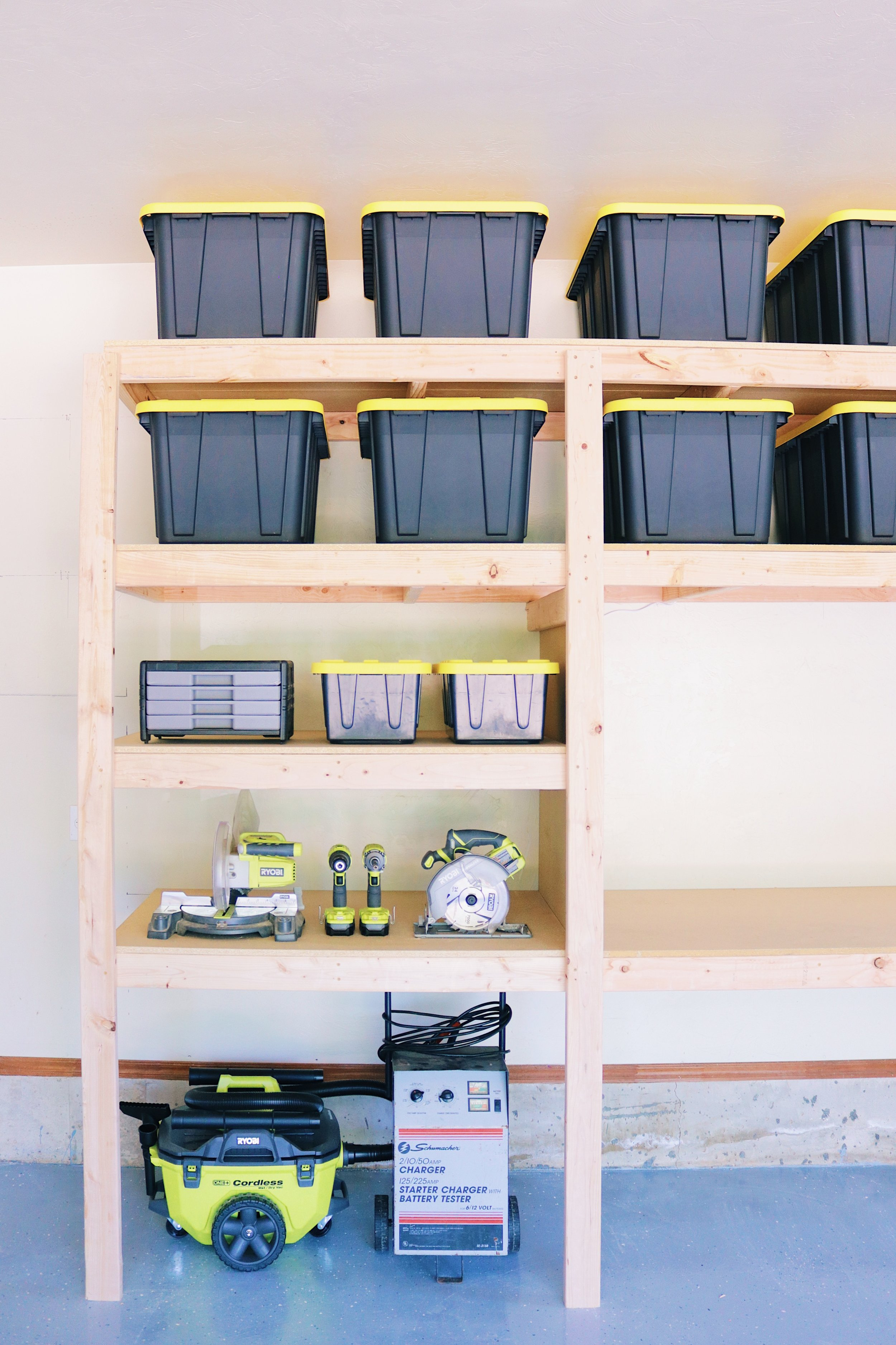 Diy Garage Shelves Modern Builds