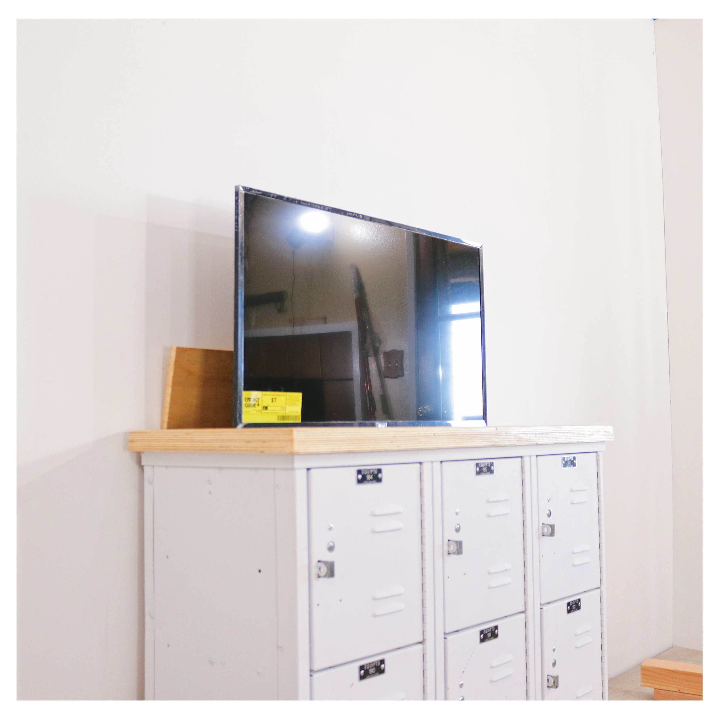 Vintage Lockers Turned Into a TV Lift, Media Console. by: Mike Montgomery | Modern Builds