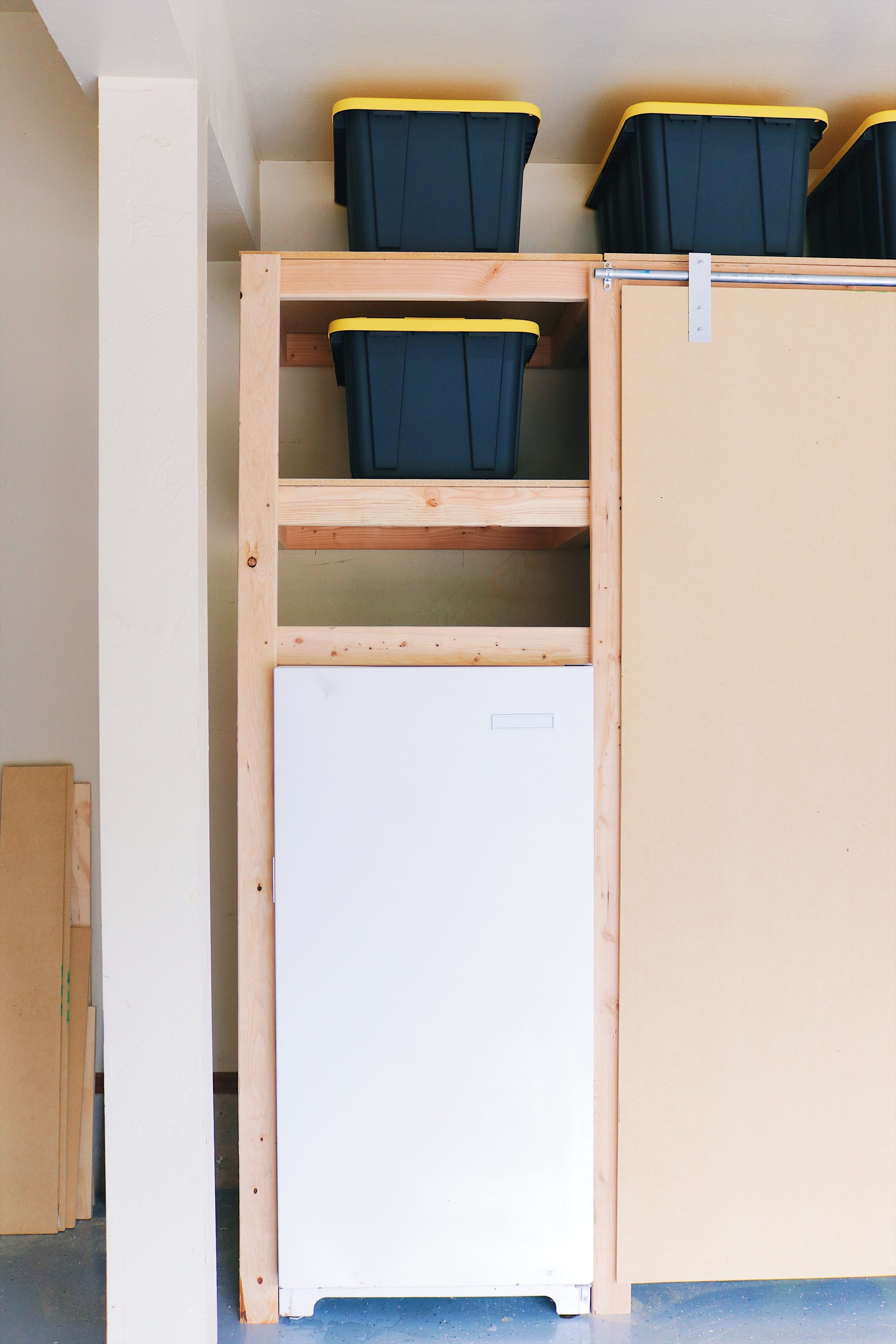DIY Garage Shelves / workstation combo. by: Mike Montgomery | Modern Builds