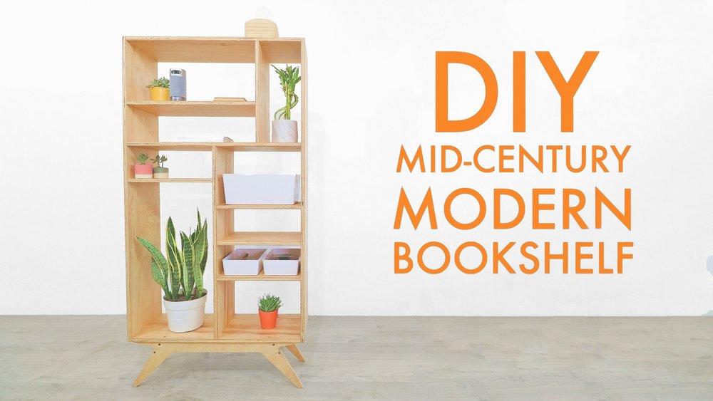 Diy Mid Century Modern Bookcase Modern Builds