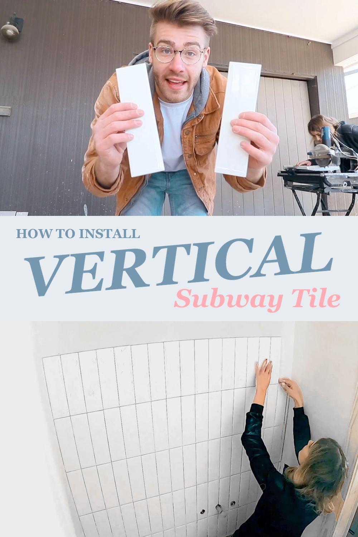 How to Install a Vertical Subway Tile Backsplash | Modern Builds