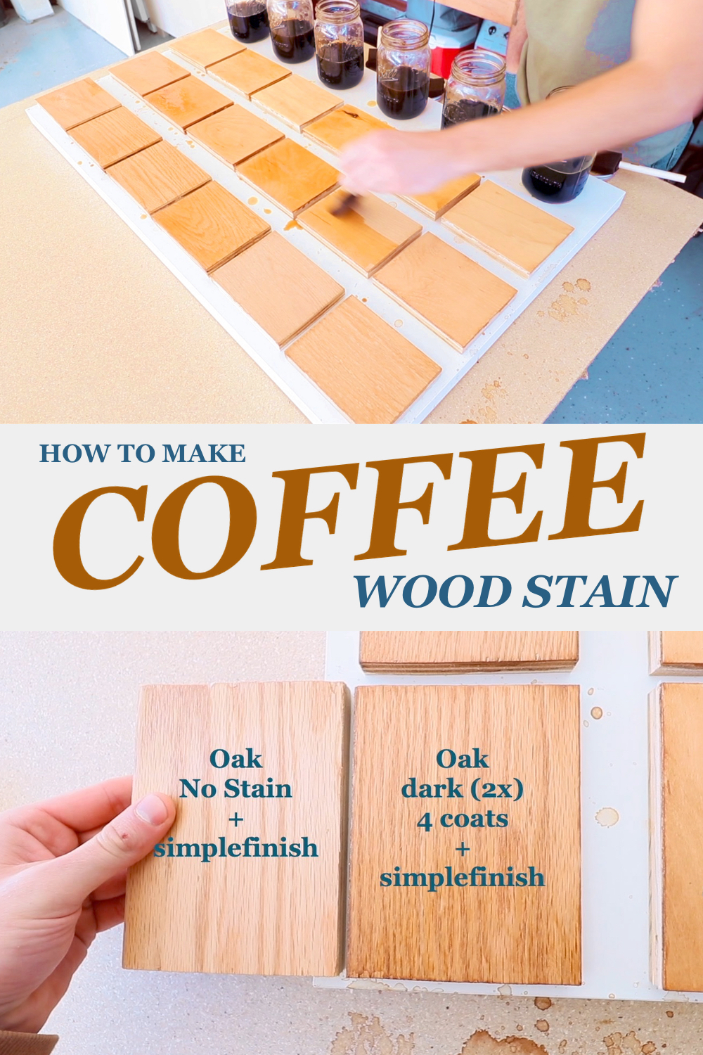 How to stain wood with coffee | Modern Builds DIY