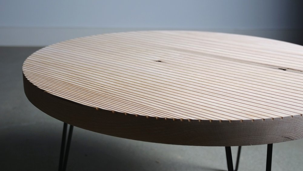 Diy Round Patterned Coffee Table Modern Builds