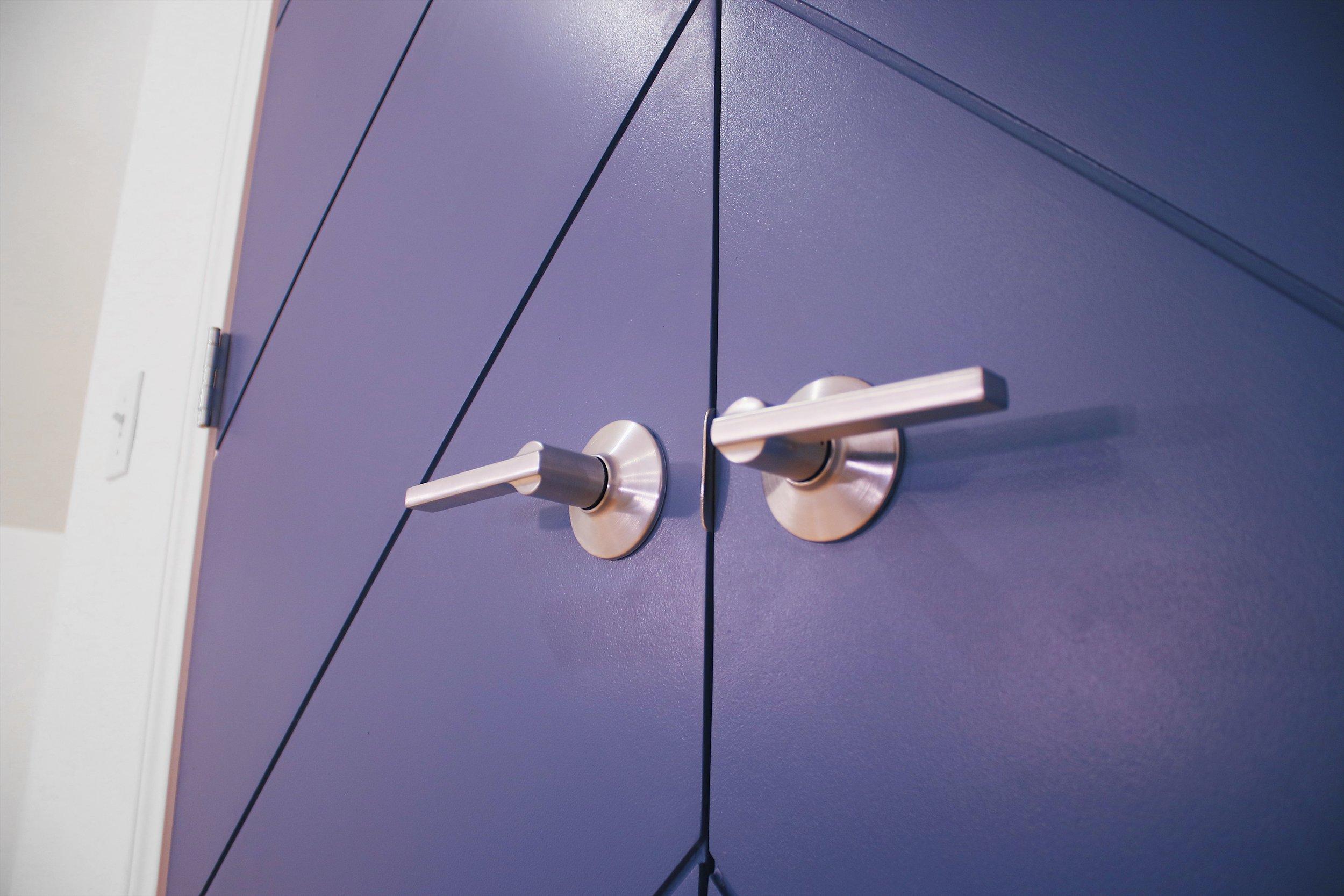 DIY CHEVRON DOOR UPDATE