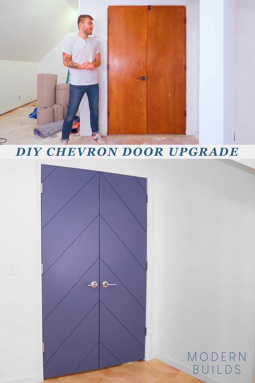 DIY CHEVRON DOOR UPGRADE. By: Mike Montgomery | Modern Builds