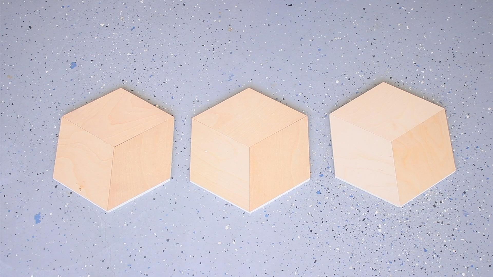 Custom Plywood Floors. Hexagons