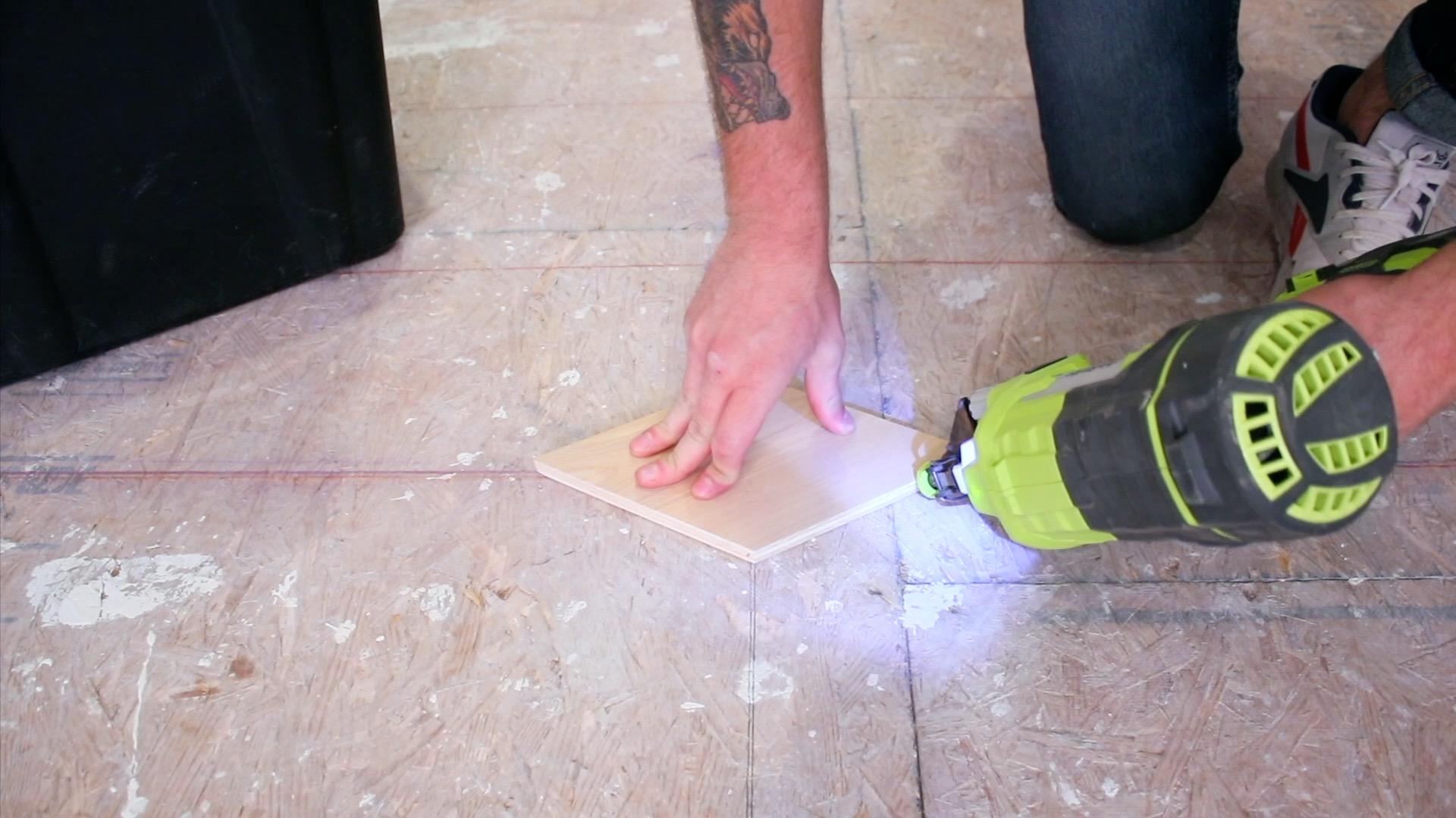 Installing Custom Hexagon Plywood Floors