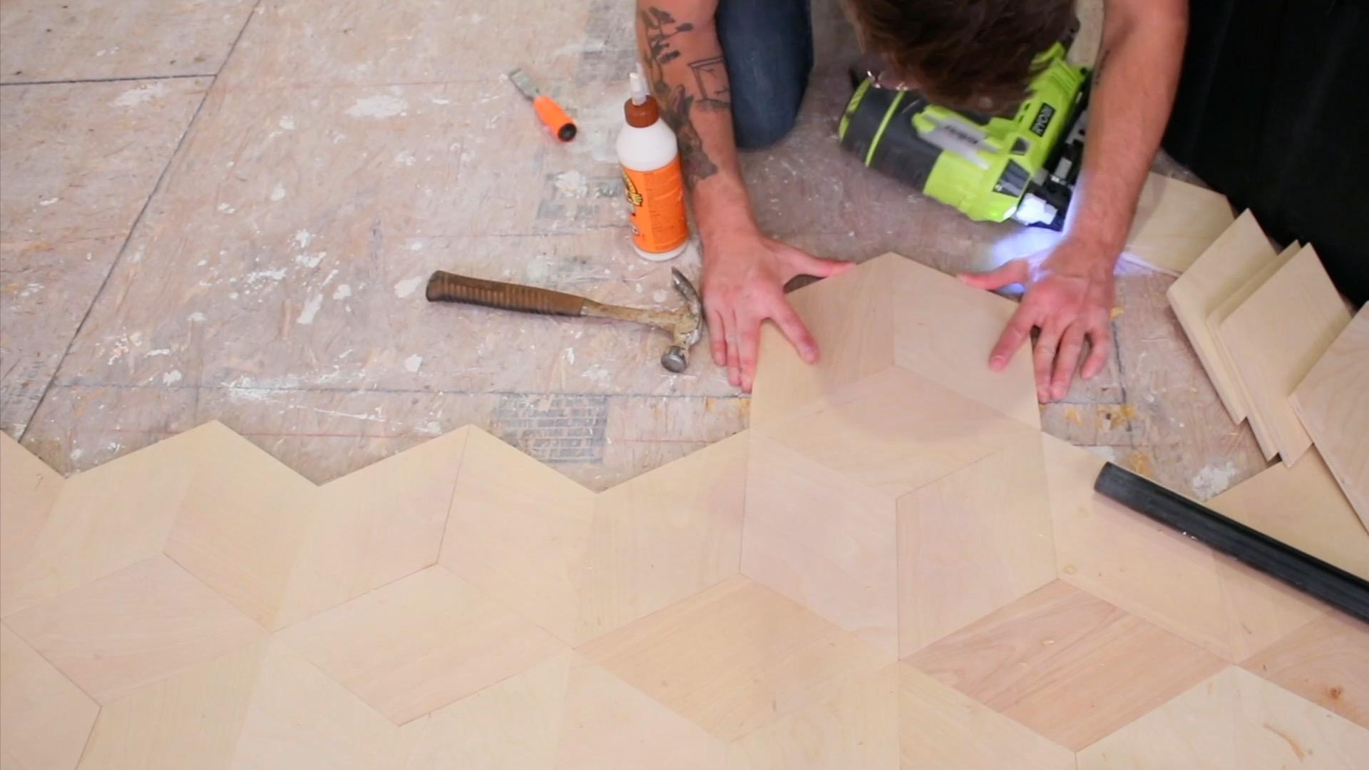 How to install Plywood Floors Hexagonal
