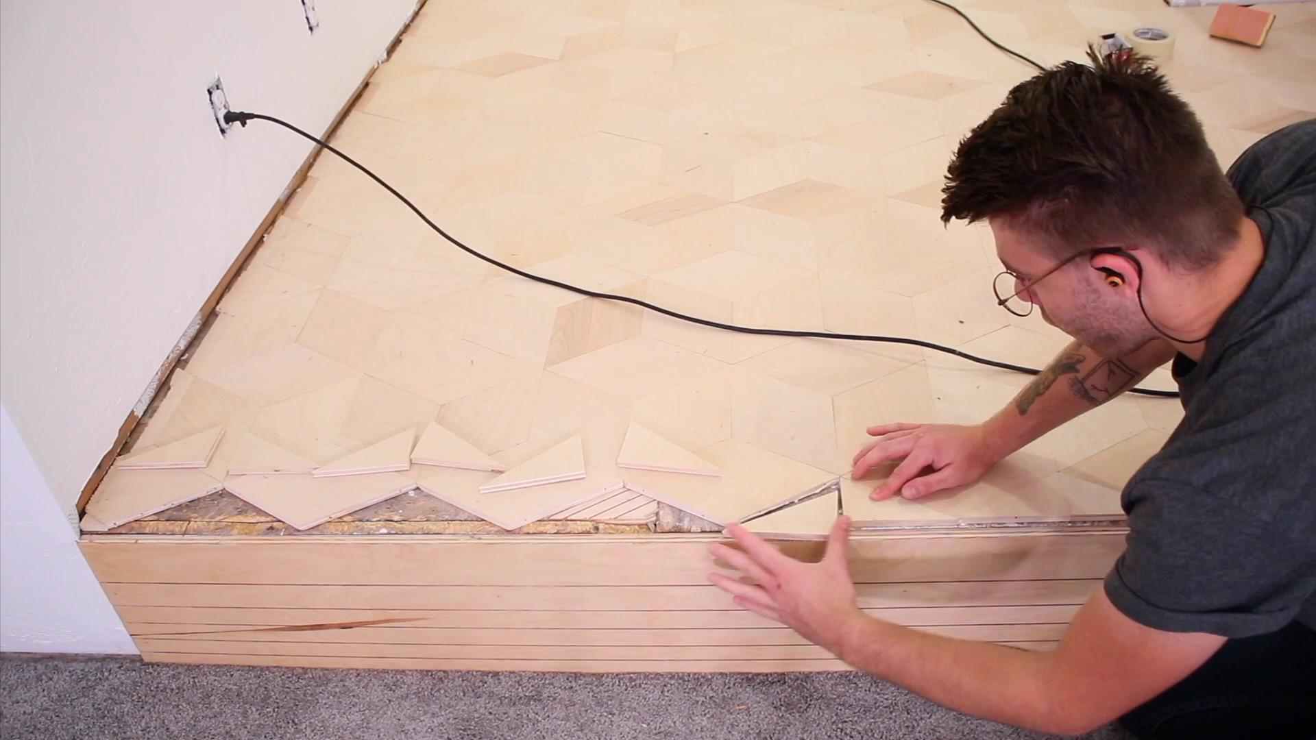 installing Custom Plywood Floors | Mike Montgomery Modern Builds