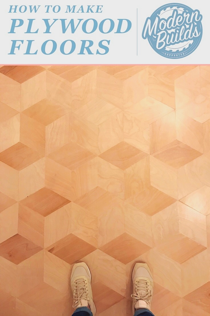 Custom Hexagonal Plywood Floors | by: Mike Montgomery - Modern Builds