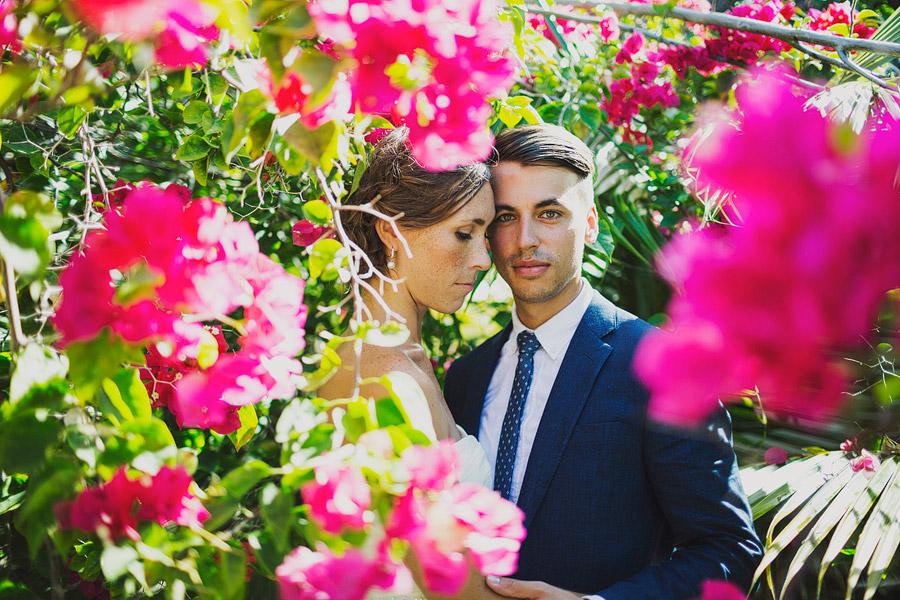 gorgeous flower wedding portrait caribbean