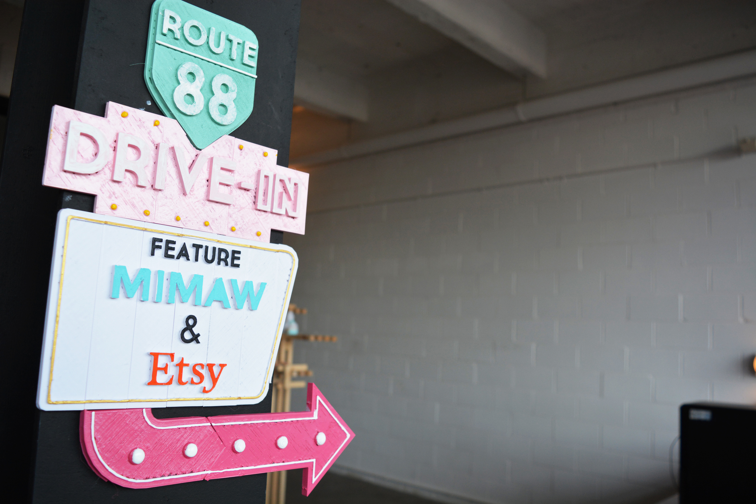 Our nostalgic Vegas inspired signage made for the workshop