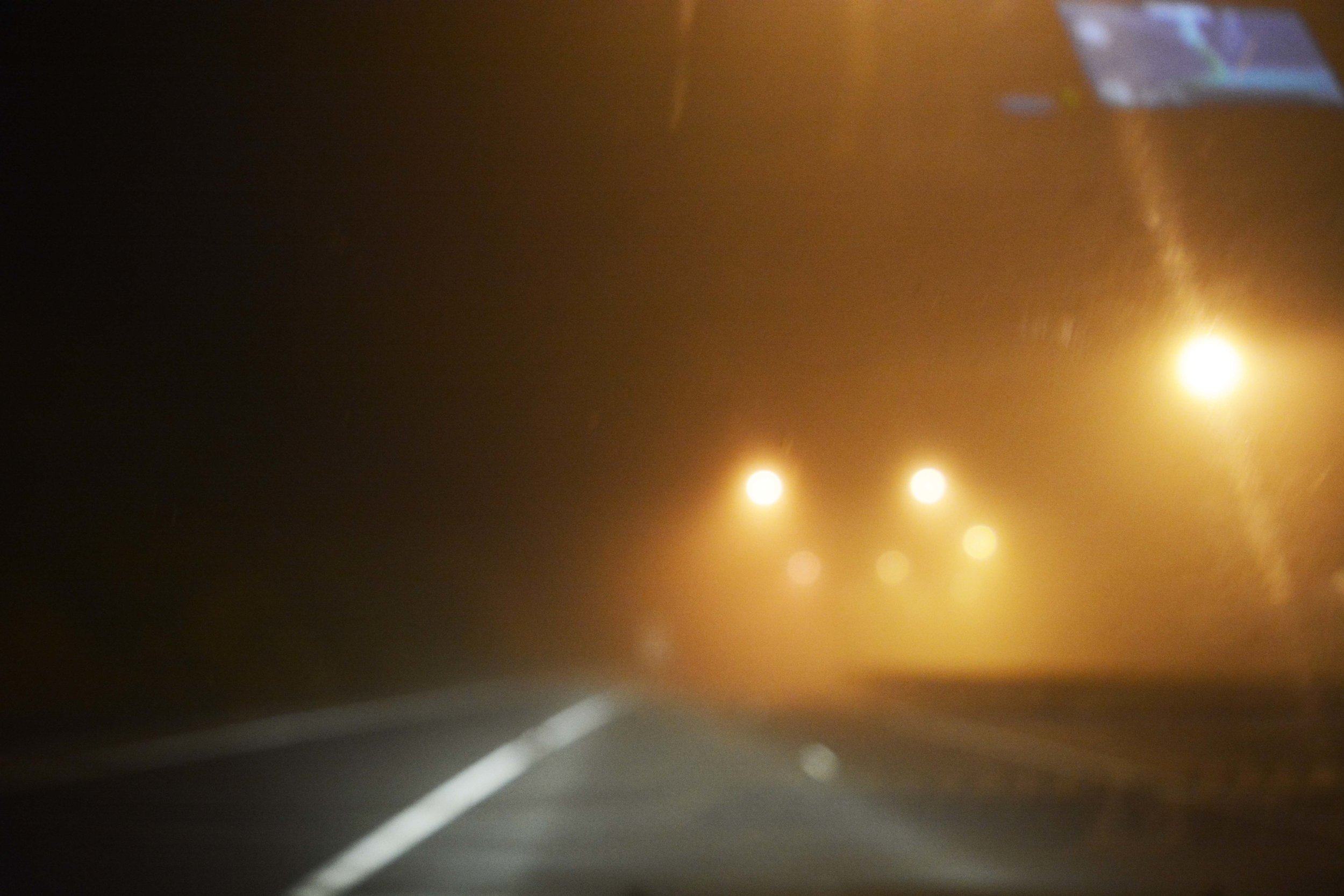 This was not photoshopped. The road to Adelaide was foggy, around 10.30pm.