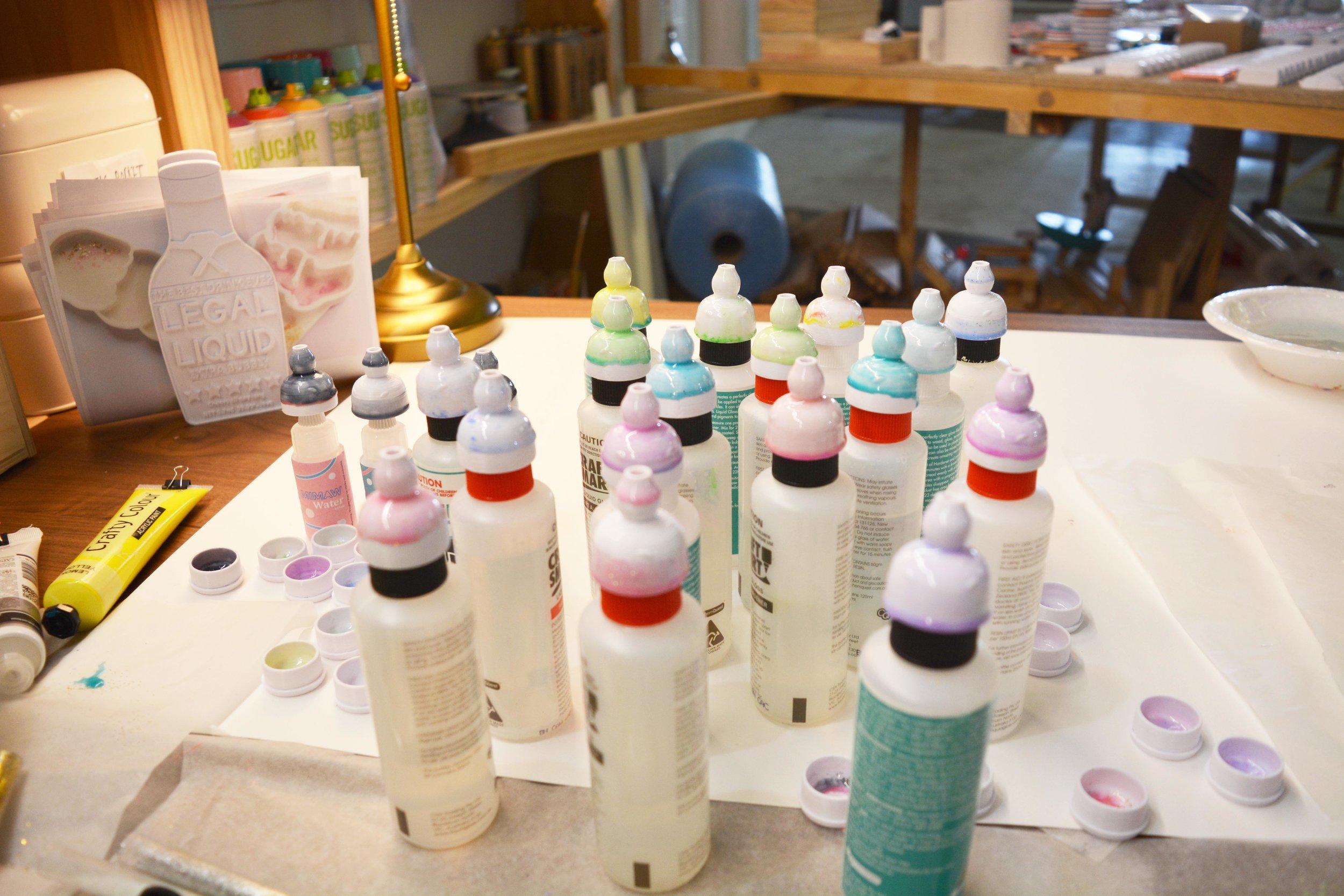 Different colours treatment